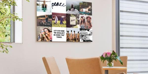 Met een collage hoef je niet te kiezen én krijg je kleur in je interieur.