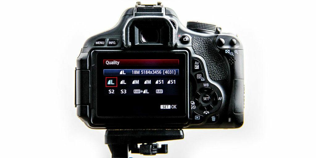 Camera settings menu showing the maximum resolution settings