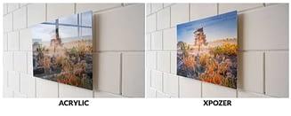 foto op plexiglas vergelijken met xpozer print