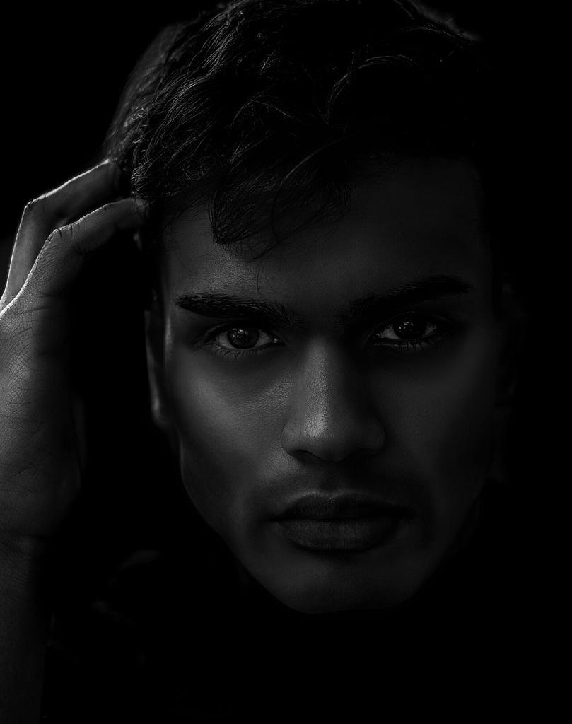 Low Key dark contrast portrait