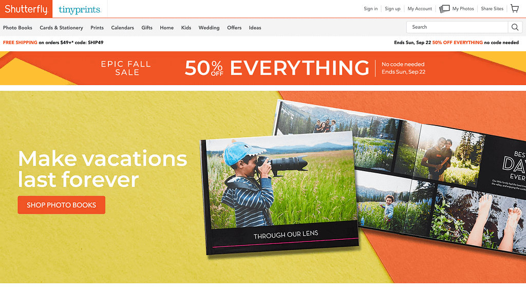Shutterfly discount for storing and ordering your photos online. Print your photos here with huge discounts.
