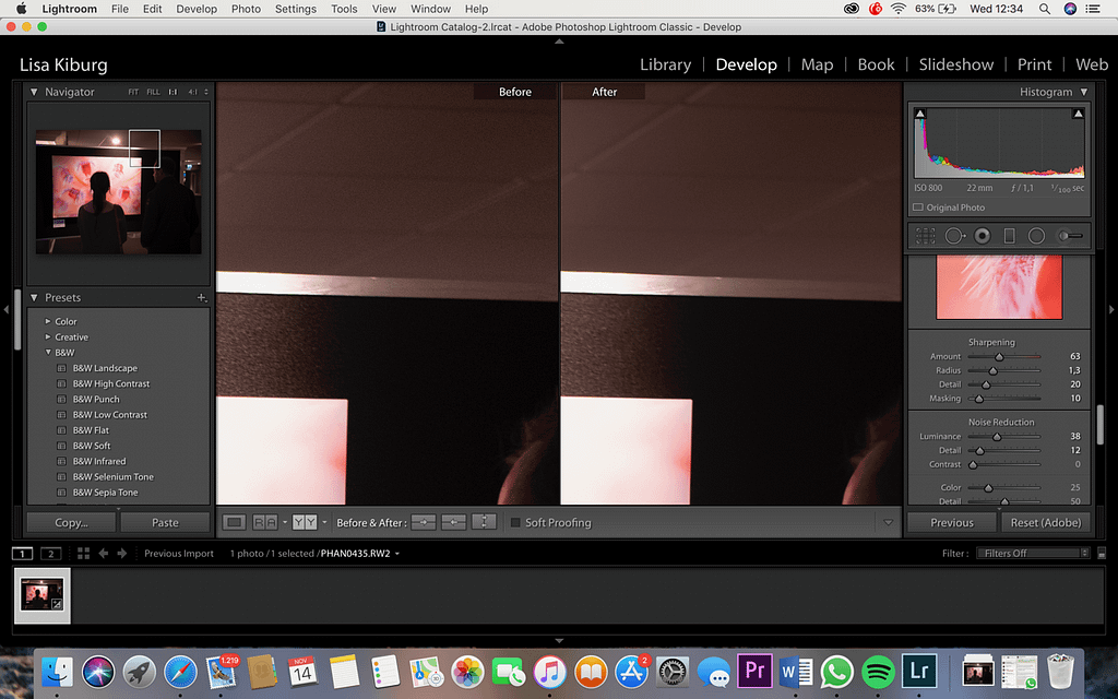 Noise Reduction, example