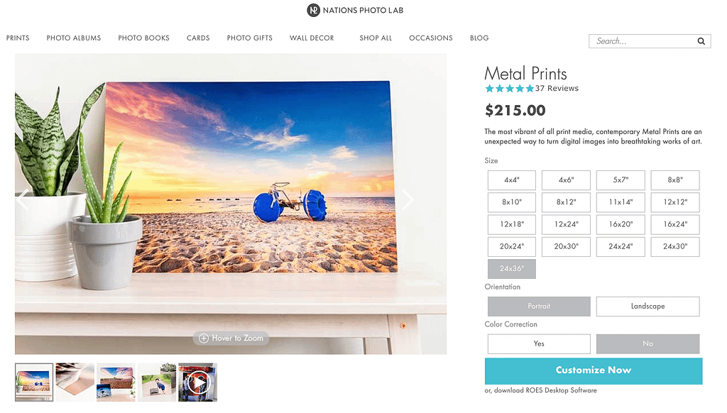 Nation Photo Lab has ranked as number 7 in our test for the best printing service 2019. Expensive Metal prints at Nations Photo Lab. Reviews and discounts can be found on discount websites.