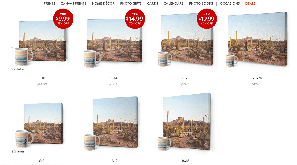 Canvas sale for printing your photo on canvas at Snapfish. Search for discounts at the internet for large discounts up to 72% on photo books.